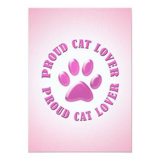 Proud Cat Lover Personalized Invites