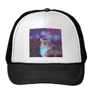 Proud Cat With Space Background Cap