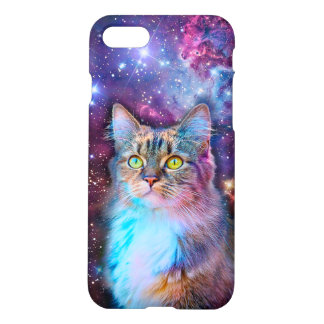 Proud Cat With Space Background iPhone 7 Case