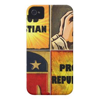 PROUD CHRISTIAN, PROUD REPUBLICAN Case-Mate iPhone 4 CASES