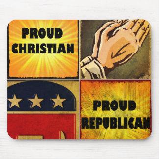 PROUD CHRISTIAN, PROUD REPUBLICAN MOUSE PADS