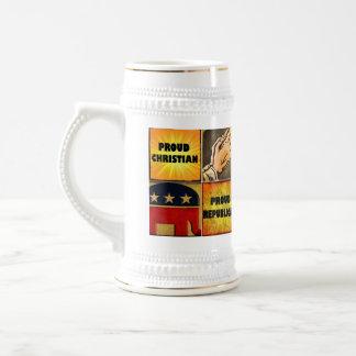 PROUD CHRISTIAN, PROUD REPUBLICAN COFFEE MUG