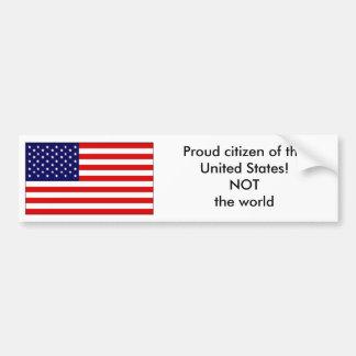 Proud citizen of the United States Bumper Sticker