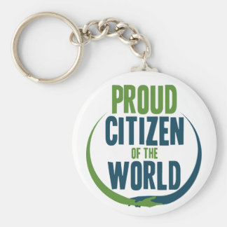 Proud Citizen of the World Key Ring