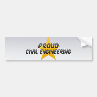 Proud Civil Engineering Bumper Stickers