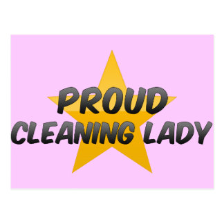 Proud Cleaning Lady Postcard