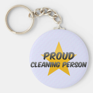 Proud Cleaning Person Keychains
