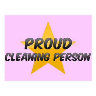 Proud Cleaning Person Postcards