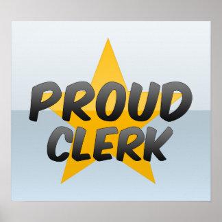 Proud Clerk Poster