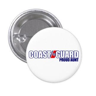 Proud Coast Guard Aunt 3 Cm Round Badge
