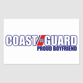 Proud Coast Guard Boyfriend Rectangular Sticker