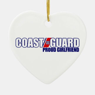 Proud Coast Guard Girlfriend Ceramic Heart Decoration