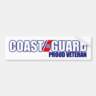 Proud Coast Guard Veteran Bumper Sticker