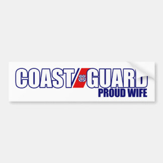 Proud Coast Guard Wife Bumper Stickers