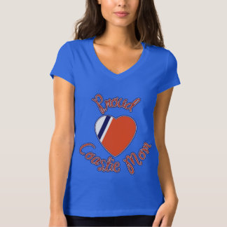Proud Coastie Mom Heart Logo Tee