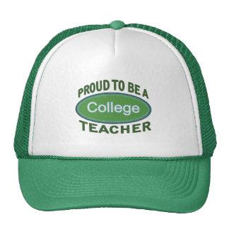 Proud College Teacher Cap