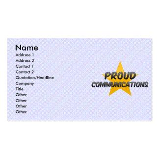 Proud Communications Business Card