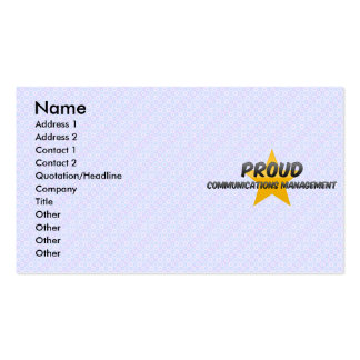 Proud Communications Management Business Card