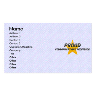 Proud Communications Professor Business Card Templates