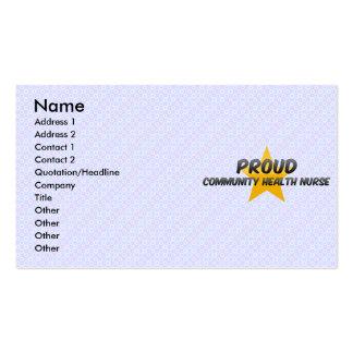 Proud Community Health Nurse Business Card Template