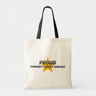 Proud Community Service Manager Canvas Bag