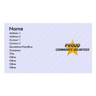 Proud Community Volunteer Business Cards