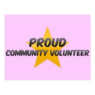 Proud Community Volunteer Post Cards