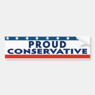 Proud Conservative Bumper Stickers