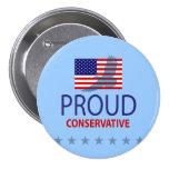 Proud Conservative Pinback Buttons