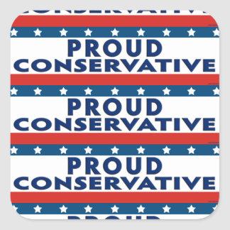 Proud Conservative Square Stickers