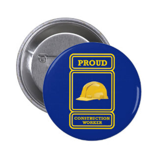 Proud Construction Worker Shield Buttons