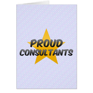 Proud Consultants Greeting Cards