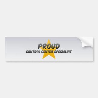 Proud Control Center Specialist Bumper Sticker