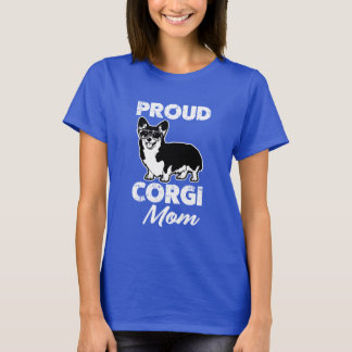 Proud Corgi Mom women's dog mom t-shirt
