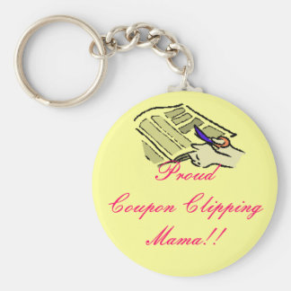 Proud Coupon Clipping Mama Basic Round Button Key Ring