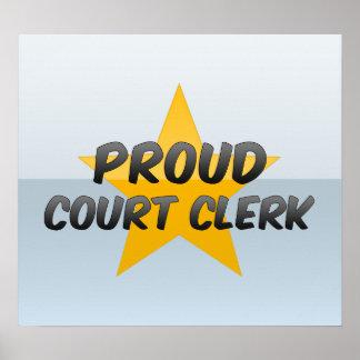 Proud Court Clerk Posters