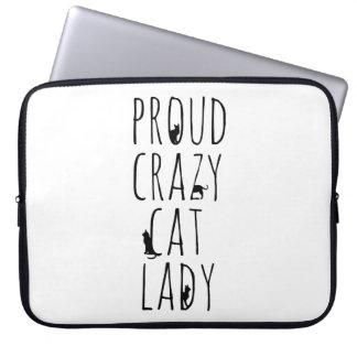 Proud Crazy Cat Lady Computer Sleeve