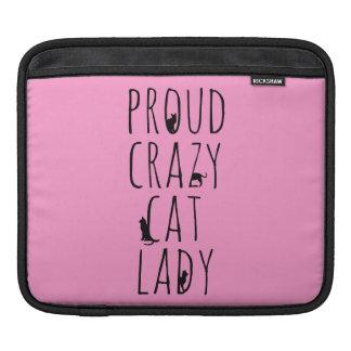 Proud Crazy Cat Lady iPad Sleeve