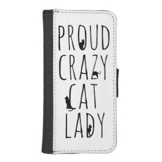 Proud Crazy Cat Lady iPhone 5 Wallet Cases