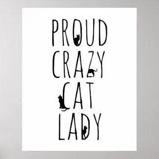 Proud Crazy Cat Lady Posters