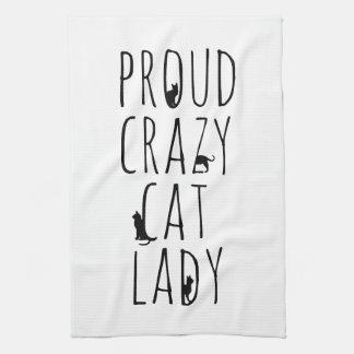 Proud Crazy Cat Lady Tea Towel