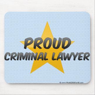 Proud Criminal Lawyer Mouse Pads