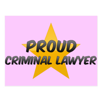 Proud Criminal Lawyer Post Card