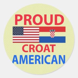 Proud Croat American Classic Round Sticker