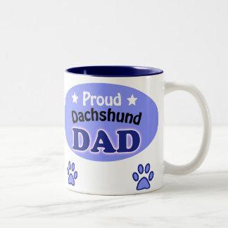Proud Dachshund Dad Two-Tone Mug