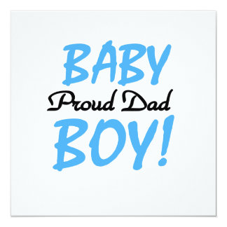 Proud Dad Baby Boy Gifts Invite