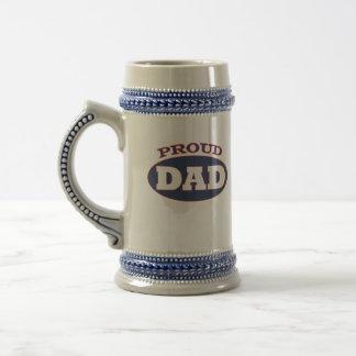 proud dad beer stein