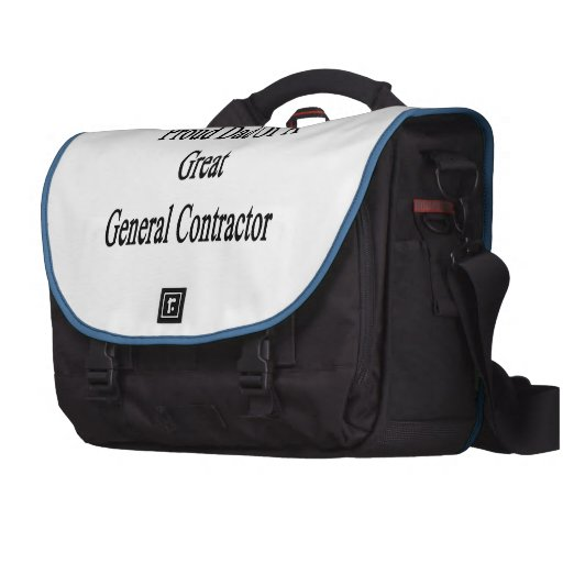 Proud Dad Of A Great General Contractor Laptop Commuter Bag