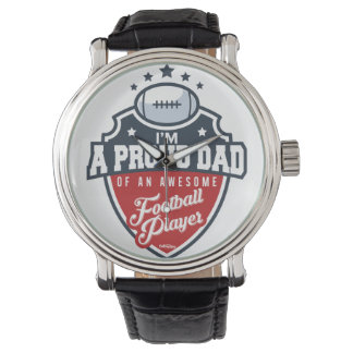 Proud Dad of Football Player Watches