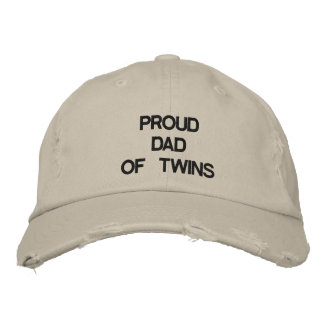 PROUD DAD OF TWINS HAT EMBROIDERED HAT